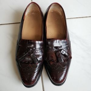 Johnson murphy wing tip oxford brogue tassel shoes